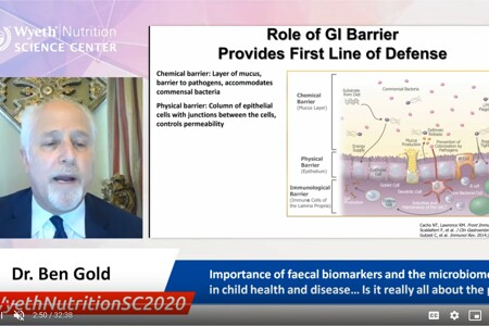 Importance of faecal biomarkers and the microbiome's role in child health and disease